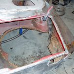 Boot floor and spare wheel well