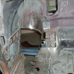Inner wheel arches (rear seat)